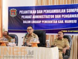 Harapkan PAD meningkat, Bupati Mutasi Pejabat di Bapenda Mamuju
