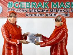 Sosialisasi Gebrak Masker, Ketua DWP Aceh: Menggunakan Masker adalah Ikhtiar