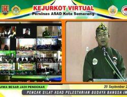 Gelar Kejurkot 2020 Virtual, Wali Kota Semarang Dinobatkan sebagai Anggota Kehormatan Persinas ASAD