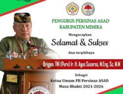 Pengkab Mimika: Selamat dan Sukses Agus Susarso sebagai Ketua Umum PB Persinas ASAD