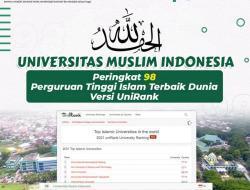 UMI Peringkat 98 Perguruan Tinggi Islam Terbaik Dunia Versi Unirank