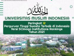 UMI Raih Peringkat 12 PTS Terbaik di Indonesia versi SCImago Institutions Rankings