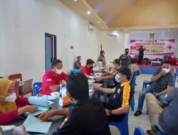 Personel Senkom Pasangkayu Ikuti Donor Darah Sambut HUT Bhayangkara ke-75