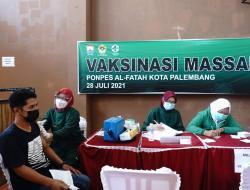 Bantu Pemerintah Percepat Penanganan Covid-19, LDII Palembang Gelar Vaksinasi Massal