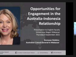 Konjen Australia Makassar Memberikan Studium Generale di UNM