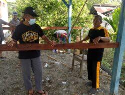 Senkom Mitra Polri Nabire Kerja Bakti Bersama Kepala Kelurahan Bumiwonorejo